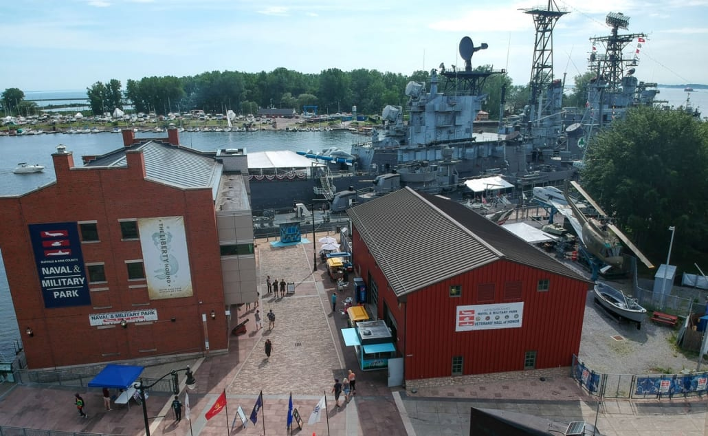 Buffalo Naval Park, Erie County, Overhead View, Naval Ship, Museum